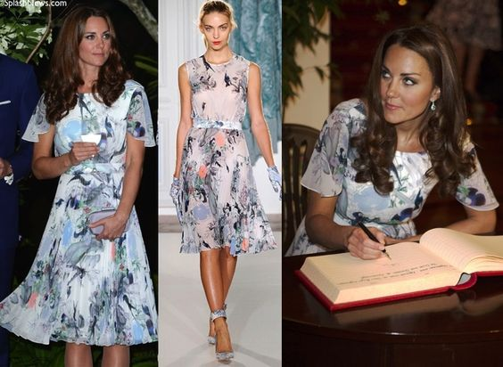 Kate wore to Erdem for a reception at Eden Hall, the British High Commissioner's residence. - September 2012