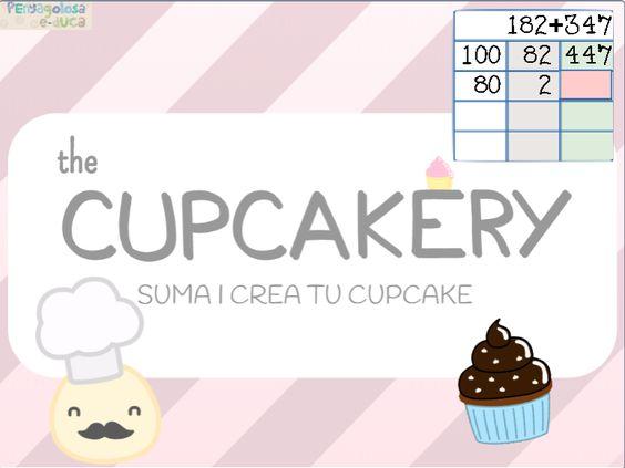 Suma y crea tu cupcake (3 cifras rebasando)