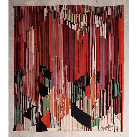 ⭕️Colour Inspiration⭕️Frantisek Kupka (1871-1957) Vertical Wool tapestry.