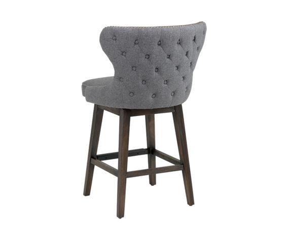 ARIANA SWIVEL COUNTER STOOL A transitional swivel stool