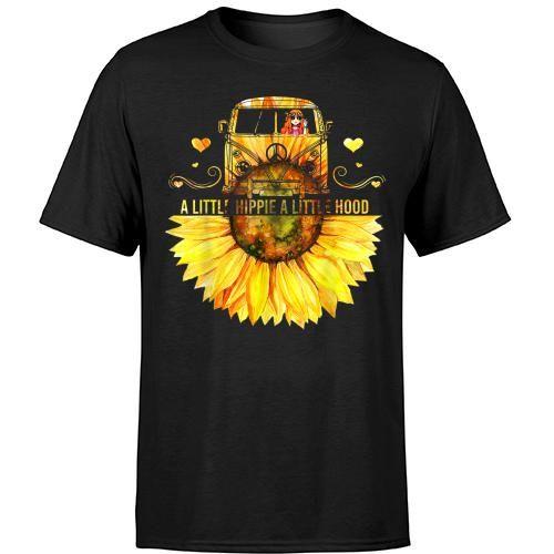 Sunflower A Little Hippie A Little Hood Funny Hippie T Shirt