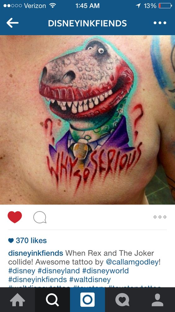 What???!! Haha creepy! Rex/The Joker mashup