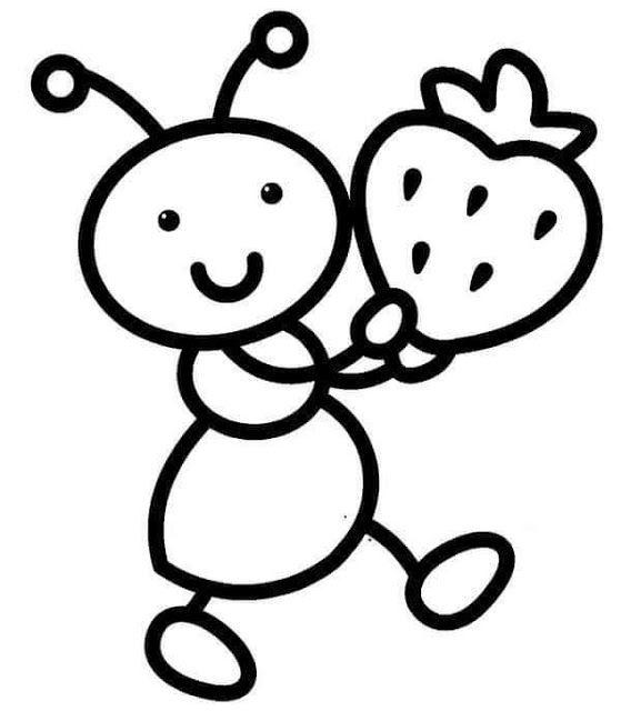 Tareitas Hormiga Para Colorear Dibujos De Animales Sencillos Animalitos Para Colorear Oso Para Pintar