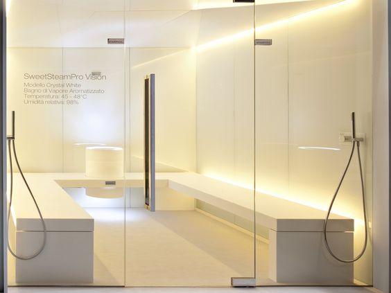 Hammam pour chromothérapie avec douche SWEET STEAM PRO VISION by STARPOOL | design Cristiano Mino