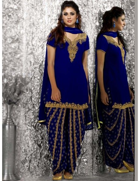 Buy Rich Work Patiala Suit Online. http://www.bharatplaza.com
