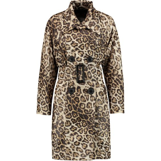 Vivienne Westwood Anglomania Malady leopard-print shell trench coat (¥60,295) ❤ liked on Polyvore featuring outerwear, coats, leopard print, leopard print coat, trench coat, vivienne westwood anglomania, double-breasted coat and petite coats