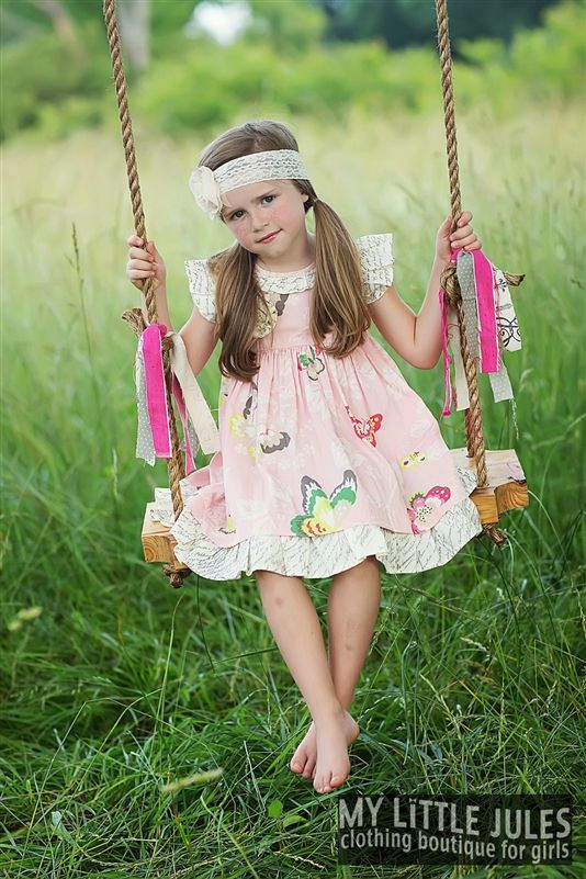 Mustard Pie Clothing - Special Edition Hannah Dress Petal Pink