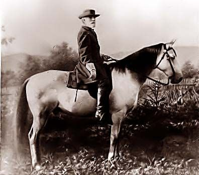 The photograph above shows General Robert E. Lee on Traveler. It was on April 9, 1865 that Lee Surrendered to Ulysses S. Grant at Appomattox Courthouse.