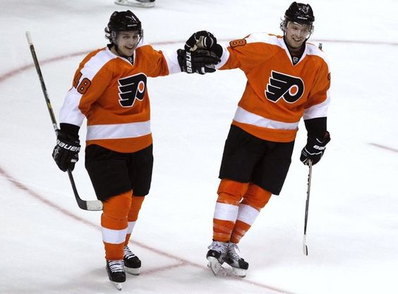 Photo of Claude Giroux & his friend  Danny Briere