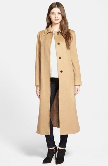 Women&39s Fleurette Point Collar Long Cashmere Coat | Coats