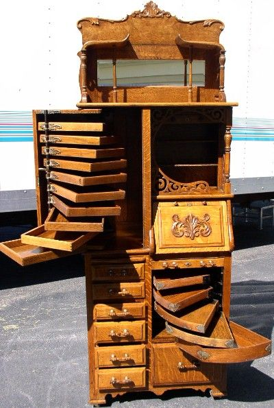 wow, what a fabulous cabinet. A cabinet for curiosities originally maybe.