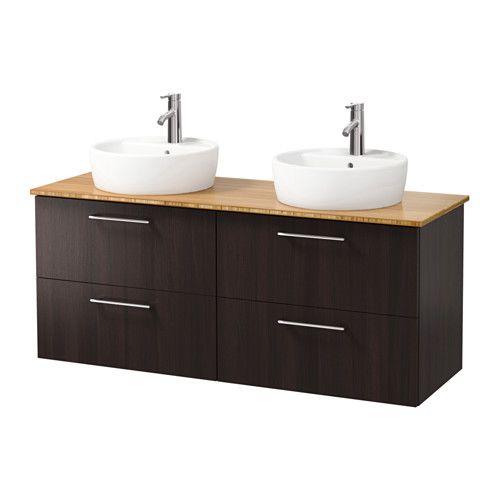 Moveable Solid Wood Ceramic Buffet Kitchen Sink Cabinet: GODMORGON/ALDERN / TÖRNVIKEN Cabinet, Countertop, 19 5/8