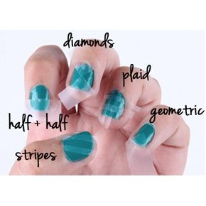 scotch tape nail art easy peazzy!