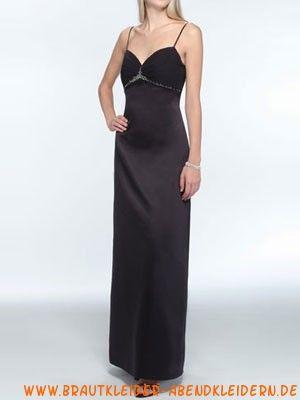 Schwarzes sexy elagantes Abendkleid aus Satin