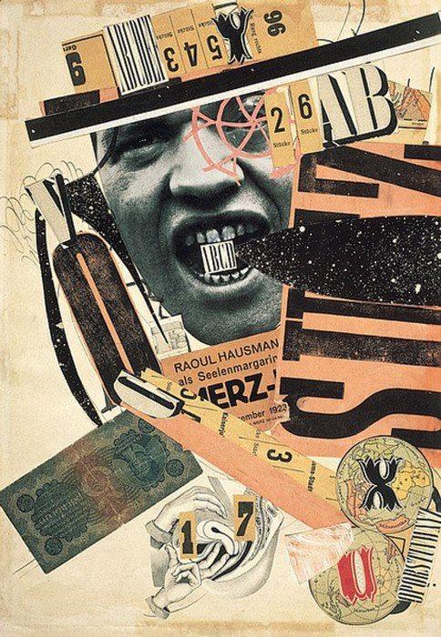 Raoul Hausmann, - ABCD  - collage papier 1923-24