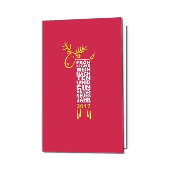 Firmen Weihnachtskarten im modernen Design online bestellen
