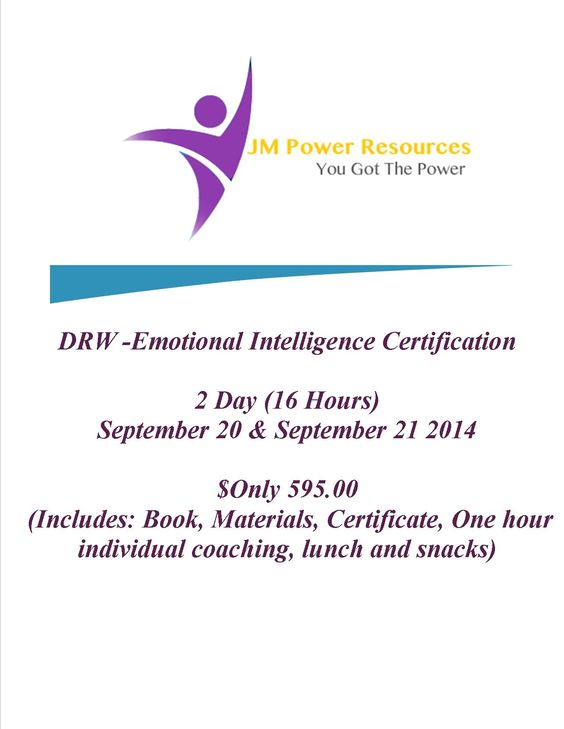 Certification Course September 20 & 21 2014 in South Florida. Get $100.off with Promo Code: Power