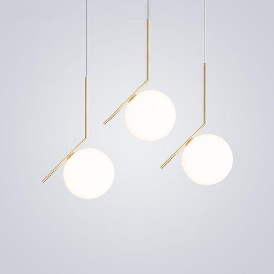 Nordic Globe Round Glass Ball Pendant Light For Bedroom Living