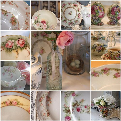 lovely rose china montage