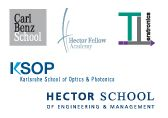 The five schools of the International Department are: HECTOR School of Engineering and Management, Carl Benz School of Engineering, Karlsruhe School of Optics & Photonics, Helmholtz International Research School for Teratronics and Hector Fellow Academy