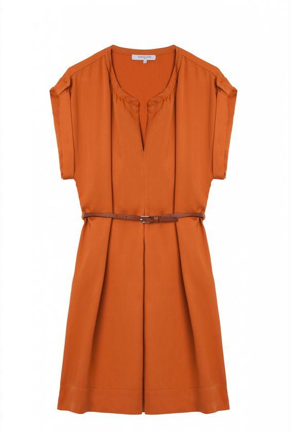 Robe orange brulée, arrivederci   gerard darel
