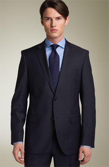 The Grey Suits/Blue Tie Combo: Here is a great grey suit/blue tie