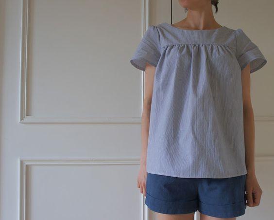 Florence's Mathilde blouse! - Har mønster til denne, se nettsiden for variasjoner