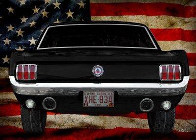 Ford Mustang 1. Generation Oldtimer Poster kaufen