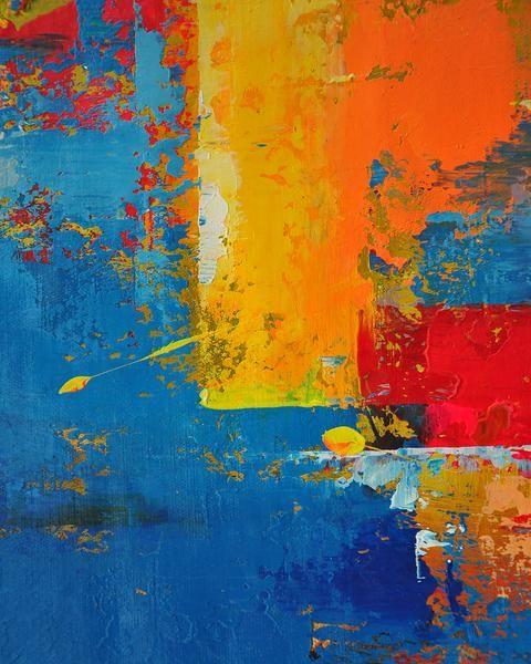 Blue Jackson Pollock Art Abstract Painting Blue Artwork Large Wall