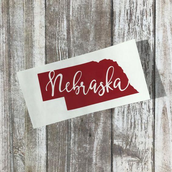 Nebraska Calligraphy Decal