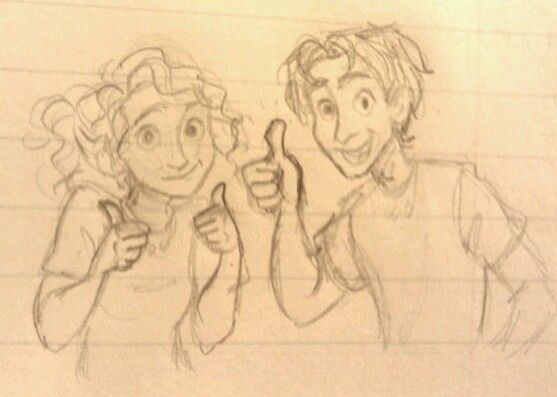 Annabeth and Percy cheering me on to study for my psych test. Not working.