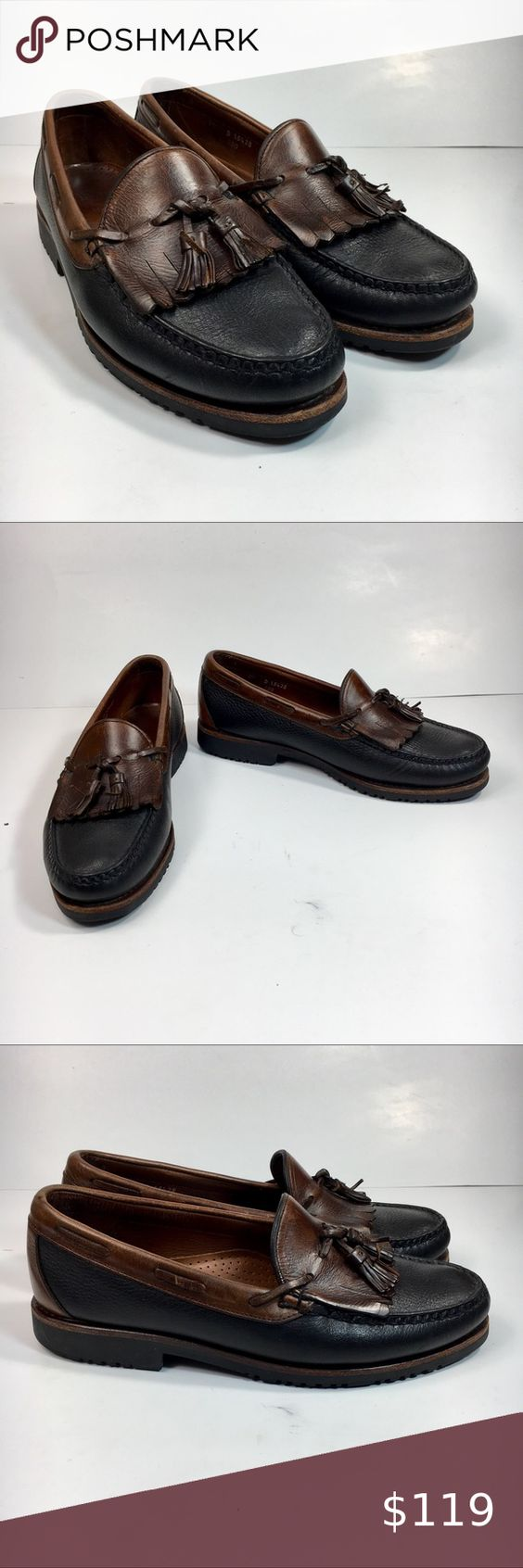 Allen Edmonds Nashua Men 10 Kiltie Tassel Loafers Allen Edmonds Nashua Men 10 D Brown Leather Kiltie Tassel Loafer Dress Shoes Preowned in great condition with minor wear on the bottoms. Allen Edmonds Shoes Loafers & Slip-Ons