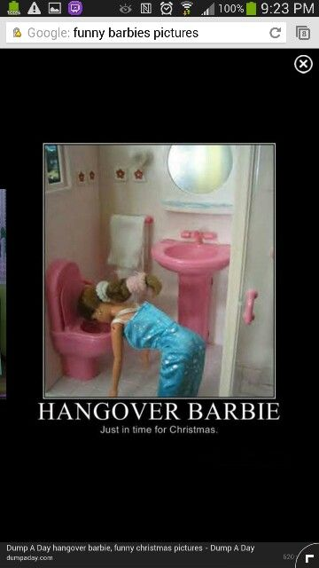 Hangover Barbie