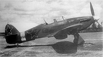 Hawker Hurricane in service with the soviet air force modified with a rear gunner  (Date and location unknown)