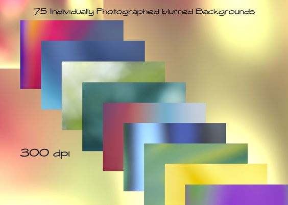 75 Individually Photographed blurred Backgrounds