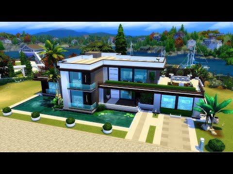 House Building Youtube Sims Building Sims 4 Modern House Beautiful Modern Homes
