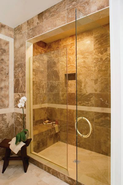 Master shower showers and masters on pinterest - Banos de diseno modernos ...