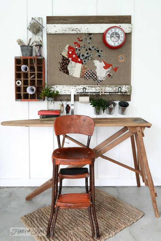 board for a message centre make your own upcycled office furniture