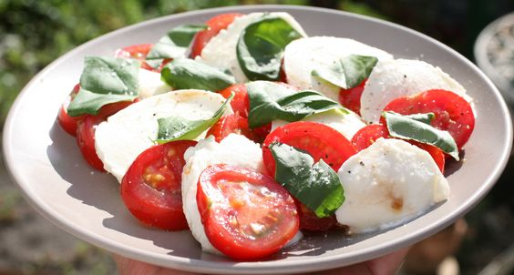 I love tomatoes and mozzarella!!! Every time I go home this is what I eat and it's as simple as it comes but the mozzarella just tastes different in the United States.
