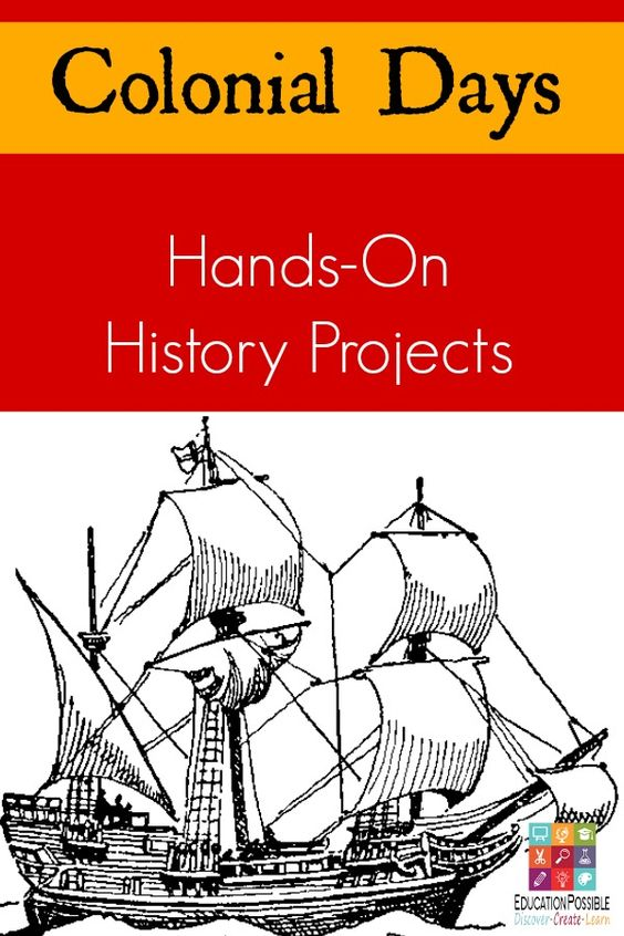 Tweens/teen can get a better understanding of what daily life was like for the American colonists with these creative colonial hands-on history projects. Great for middle school history.