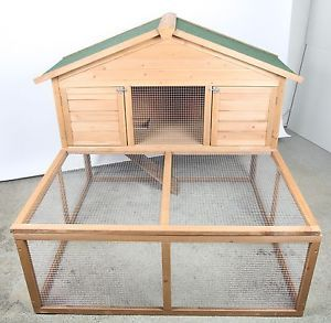 Rabbit hutch plans simple and design on pinterest for Simple rabbit hutch plans
