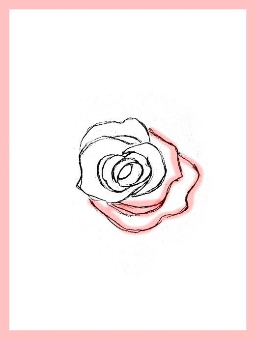 How To Draw Roses Happy Family Art In 2020 Roses Drawing Red Rose Drawing Flower Drawing