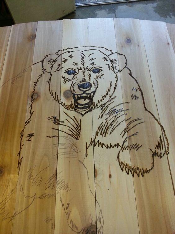 Wood burning bear.   Wood working   Pinterest   Wood ...