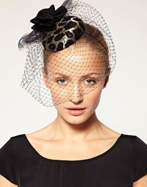 French Connection Animal Print Pillbox Hat - StyleSays