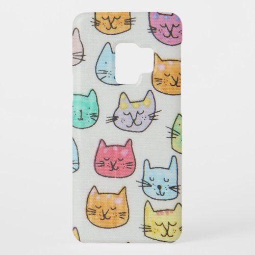 Cat Kitten Face Mask Pets Animals Mom Kitty Case Mate Samsung Galaxy S9 Case