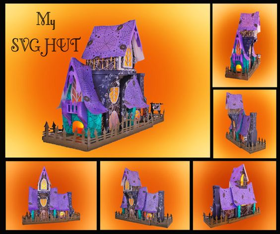 Old Gallows Manor 3D Haunted House Template by MySVGHUT on Etsy