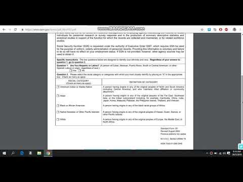 Sf181 Ethnicity And Race Form Do We Indians Moors Do An Affidavit