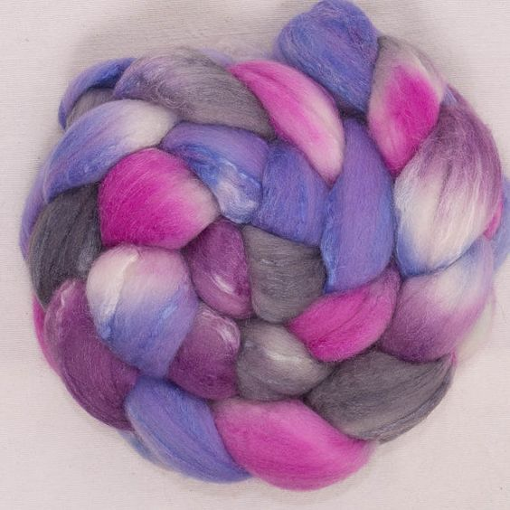 Hand painted combed top hand dyed roving Extra by YummyYarnsUK