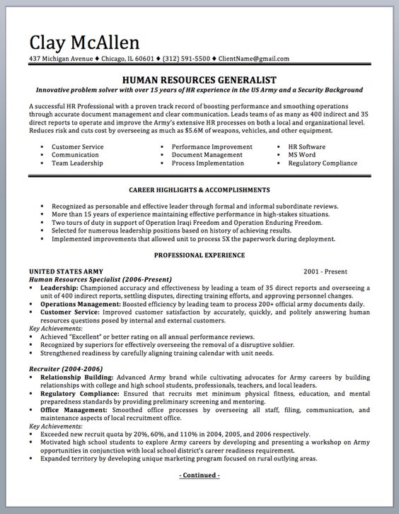 Professionally written military resume to civilian sample and - public service officer sample resume