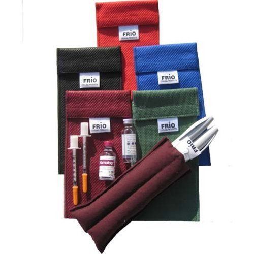 Frio Duo Pen Cooling Wallet Color Blue Fs Type 1 Diabetes Waterproof Liner Diabetes